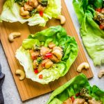 Cashew Chicken Lettuce Wraps – a light and refreshing low carb appetizer, lunch or light dinner with all the flavors of the takeout favorite. Best of all, comes together super quick so they're perfect for busy weeknights.