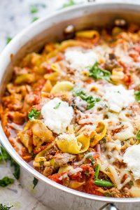 Lasagna Zucchini Noodles (Zoodles)