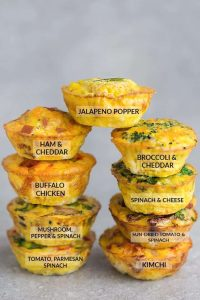 Low Carb Breakfast Egg Cups – 9 Ways