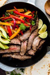 Low Carb Steak Fajitas