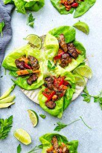 Fajita Steak Lettuce Wraps