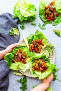 Chili Lime Chicken Lettuce Wraps