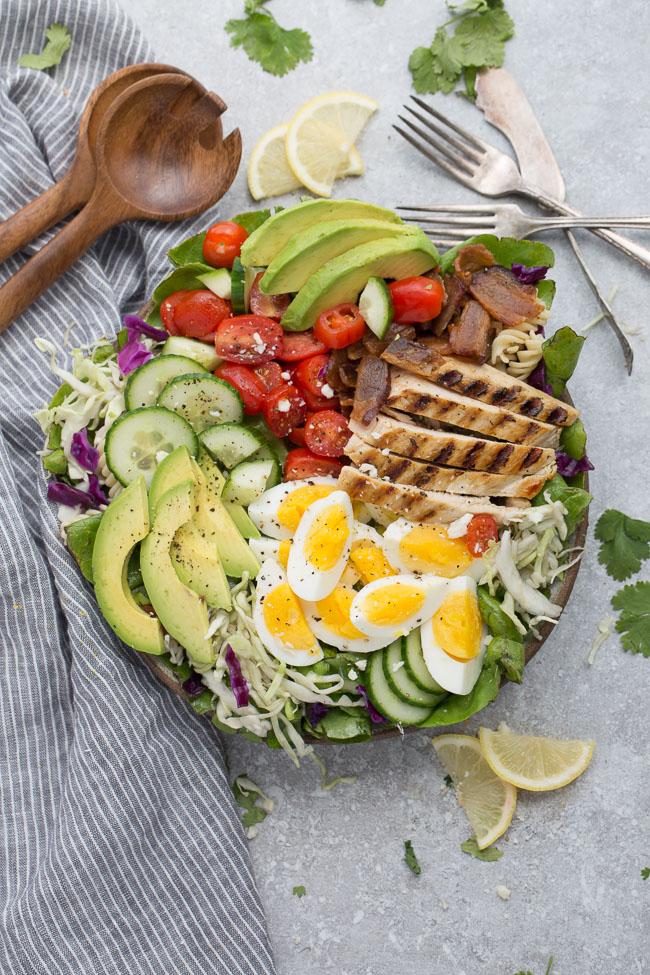 Low Carb Chicken Cobb Salad Life Made Keto