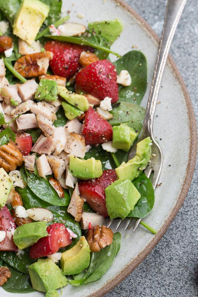 Strawberry Avocado Spinach Salad Life Made Keto
