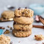 Low Carb Breakfast Cookies are soft, chewy and make the perfect healthy breakfast for on the go. This delicious sugar free recipe comes together in only one bowl with almond flour, coconut flakes, sesame seeds and chopped nuts.