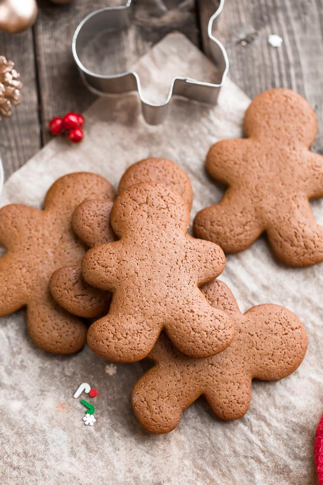 Low Carb Gingerbread Men Cookies