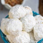 Low Carb Pecan Snowball Cookies in a bowl