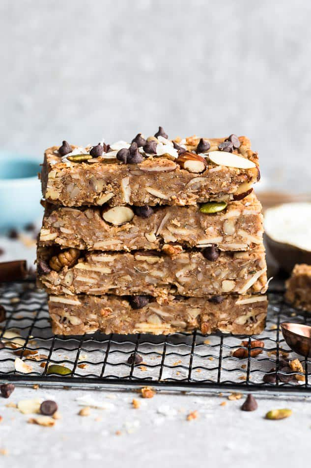 Chill the pan in the fridge or freezer prior to cutting into bars for a cleaner slice. Low-Carb-Protein-Bars ...