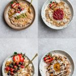 Top view of 4 Keto Porridge bowls